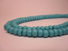 Czech Seed Beads 5/0 Opaque Turq 1str x +/-20cm