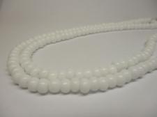 Czech Seed Beads 5/0 Opaque White 1str x +/-20cm