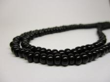 Czech Seed Beads 5/0 Opaque Black 1str x +/-20cm