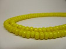 Czech Seed Beads 5/0 Opaque Yellow 1str x +/-20cm