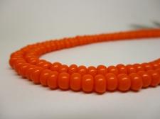 Czech Seed Beads 5/0 Opaque Orange 1str x +/-20cm