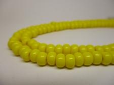 Czech Seed Beads 3/0 Opaque Yellow 1str x +/-20cm