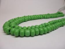 Czech Seed Beads 3/0 Opaque Lt Green 1str x +/-20cm
