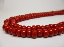 Czech Seed Beads 3/0 Opaque Red 1str x +/-20cm