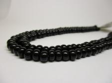Czech Seed Beads 3/0 Opaque Black 1str x +/-20cm