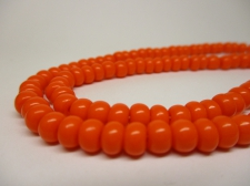 Czech Seed Beads 3/0 Opaque Orange 1str x +/-20cm