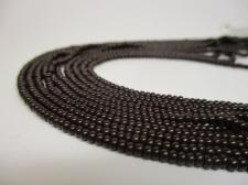 Czech Seed Beads 8/0 Opaque Dk Brown 5str x +/-20cm
