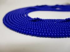 Czech Seed Beads 8/0 Opaque Blue 5str x +/-20cm