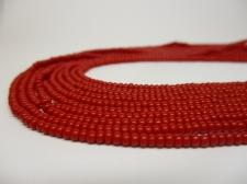 Czech Seed Beads 8/0 Opaque Red 5str x +/-20cm