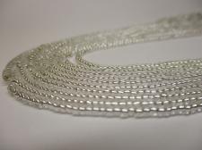 Czech Seed Beads 11/0 Foil Clear 5str x +/-20cm