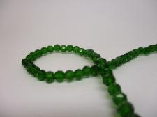 Crystal Round 4mm Dk Green  +/-100pcs
