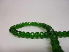 Crystal Disc 4mm Dk Green  +/-140pcs