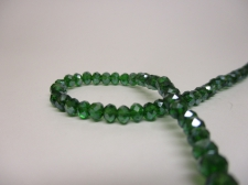 Crystal Disc 4mm Dk Green AB  +/-140pcs