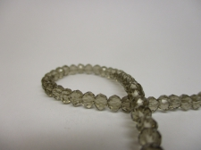 Crystal Disc 4mm Grey  +/-140pcs