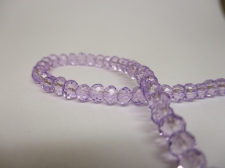 Crystal Disc 4mm Lt Purple  +/-140pcs