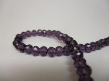 Crystal Disc 4mm Dk Purple  +/-140pcs