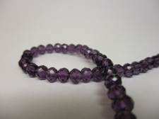 Crystal Disc 4mm Dk Purple  +/-140pcs