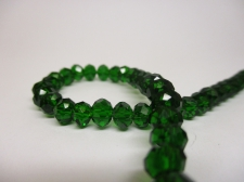 Crystal Disc 6mm Dk Green +/-90pcs