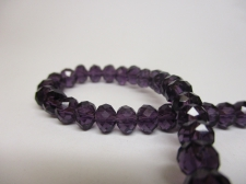 Crystal Disc 6mm Dk Purple +/-90pcs