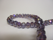 Crystal Disc 6mm Purple AB +/-90pcs