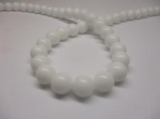 White Porcelain 8mm +/- 48pcs