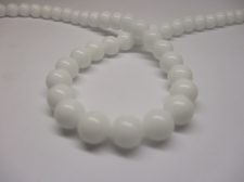 White Porcelain 8mm +/- 48pcs