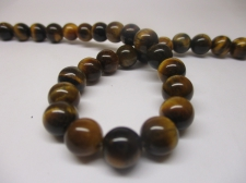 Tiger Eye 8mm +/-46pcs