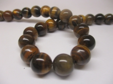 Tiger Eye 10mm +/-38pcs