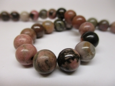 Rhodonite 8mm +/-49pcs