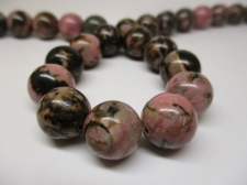 Rhodonite 12mm +/-33pcs