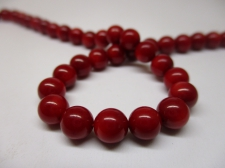 Red Coral 6mm +/-64pcs