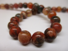 Red Moss Agate 8mm +/-51pcs