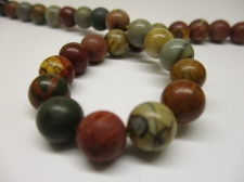 Red Picasso Jasper 8mm +/-46pcs