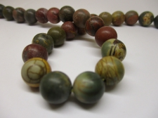 Red Picasso Jasper 10mm +/-39pcs