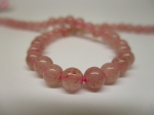 Strawberry Quartz 4mm +/-90pcs