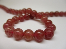 Strawberry Quartz 6mm +/-63pcs