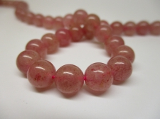 Strawberry Quartz 8mm +/-51pcs