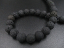 LAVA ROCK 8mm+/-47pcs Black