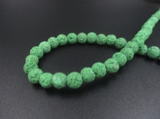 LAVA ROCK 6mm+/-63pcs Green