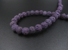 LAVA ROCK 6mm+/-63pcs Dk Purple
