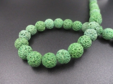 LAVA ROCK 8mm+/-47pcs Lt Green