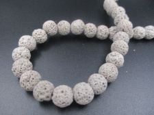 LAVA ROCK 8mm+/-47pcs Grey