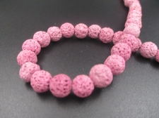 LAVA ROCK 8mm+/-47pcs Pink