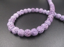 LAVA ROCK 8mm+/-47pcs Lt Purple