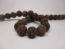 Lava Rock 10mm +/-38pcs Dk Brown