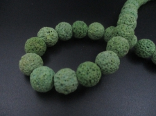 LAVA ROCK 12mm+/-32pcs Lt Green