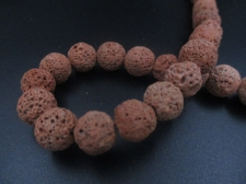 LAVA ROCK 12mm+/-32pcs Lt Brown