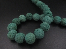 LAVA ROCK 12mm+/-32pcs Green