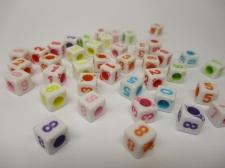 Square 7x7mm Acrylic (38c9750b) 250g White mix