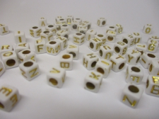 Square 6x6mm Acrylic (48c9308wg) 250g White gold